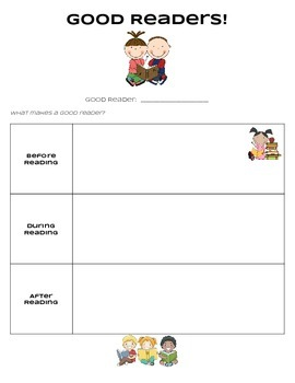 What Makes a Good Reader? Graphic Organizer