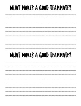 What Makes a Good Teammate?