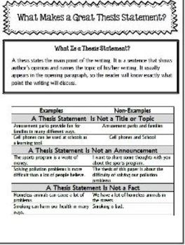 great thesis examples