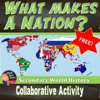FREE! - What Makes a Nation? (Students create their own nation) (World History)