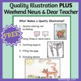 Quality Illustration PLUS Weekend News & Dear Teacher Letter