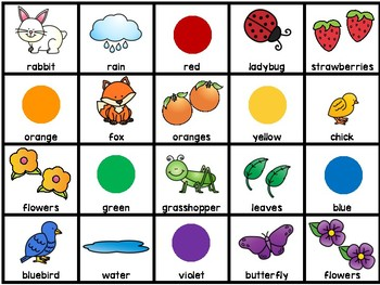 What Makes a Rainbow? Story Time Freebie Visuals & Picture Pieces