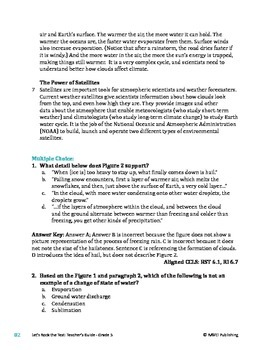 What Makes it Rain? - Informational Text Test Prep