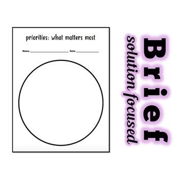 Priorities: A Brief Solution Focused Classroom Lesson