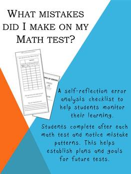 What Mistakes Did I Make On My Math Test?