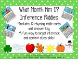 What Month Am I? Inference Riddles