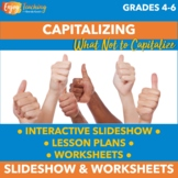What Not to Capitalize PowerPoint and Worksheets