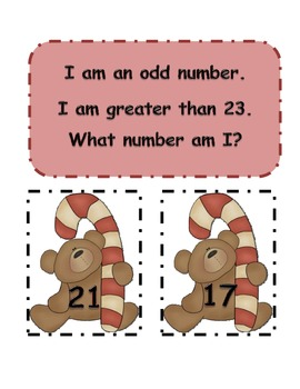 What Number Am I?  Christmas guess the number