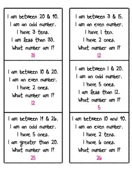 What Number Am I?  (number riddles)