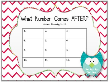 What Number Comes AFTER? Task Cards. Ordering Numbers