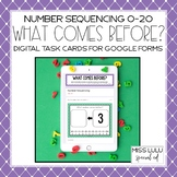 What Number Comes Before? Task Cards for Distance Learning