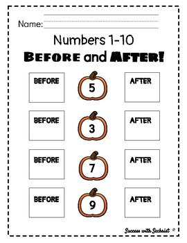 What Number Comes Before and After?