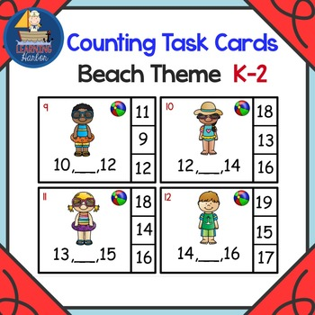 What Number Comes Between Two Given Numbers Math Center Beach Theme