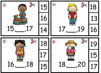 What Number Comes Between Two Given Numbers Math Center Back to School Theme