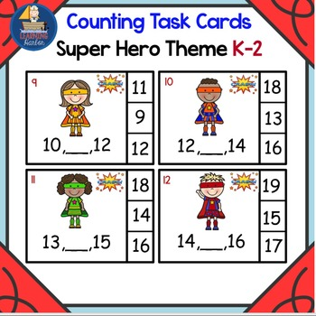 What Number Comes Between Two Given Numbers Math Center Superhero Theme