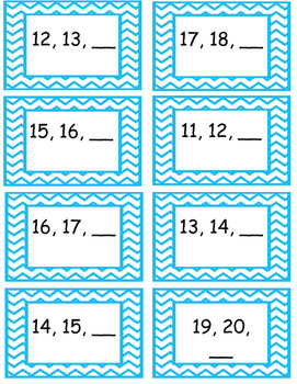 What Number Comes Next? File Folder Game