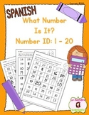 Number Identification 1-20: What Number Is It? (Spanish)