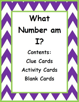 What Number am I? - A Number Sense Activity