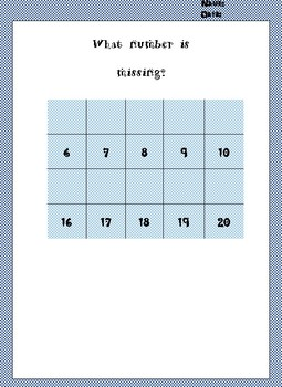 What Number is missing? Task Cards (Early Finishers)
