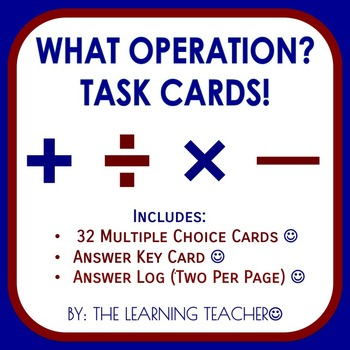 What Operation? Task Cards