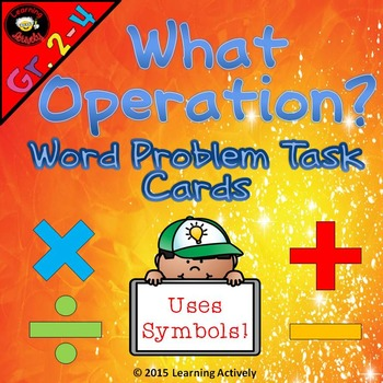 What Operation? Word Problem Task Cards *Freebie*