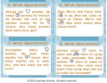What Operations? Multi-Step Word Problem Task Cards