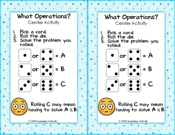 What Operations? Multi-Step Word Problems with Tables Task Cards