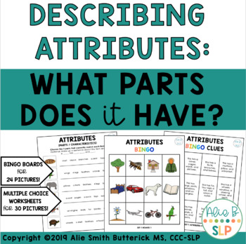 What Parts Does It Have? Describing Attributes