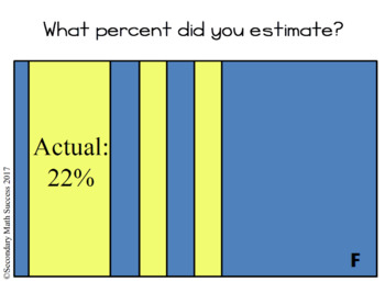 What Percent? Estimation Game with Shapes and Areas for Grades 4 to 12