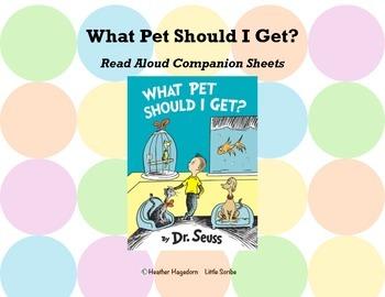 """What Pet Should I Get?"" Companion Sheets"