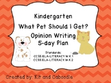 Dr. Seuss's 'What Pet Should I Get?' Kinder 5-Day Opinion Writing Plan