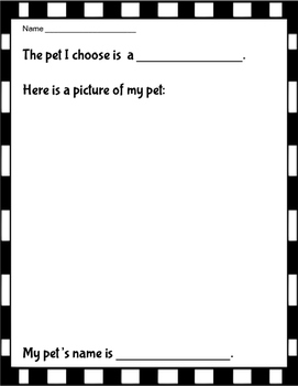 What Pet Should I Get? Reader Response Activities