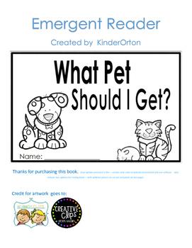 What Pet should I get - emergent reader