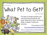 What Pet to Get? Activities - Aligned to Common Core