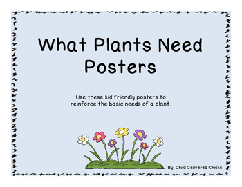 What Plants Need Posters