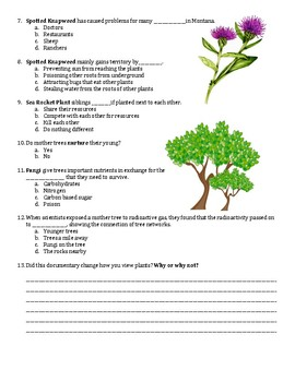 What Plants Talk About PBS Documentary Worksheet