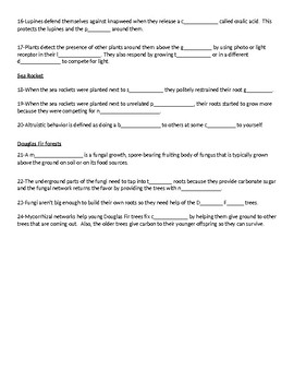 What Plants Talk About Video Worksheet by ...