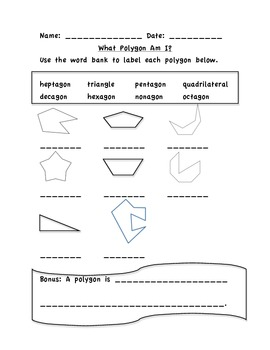 What Polygon Am I? 2.G.1