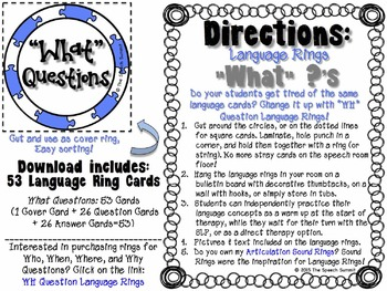 What Question Language Rings {FREEBIE}