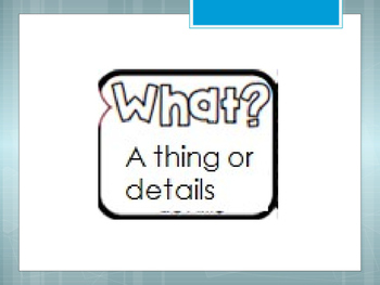 What Questions Mini Lesson and Independent Practice