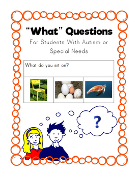 What Questions- Autism or Special Needs
