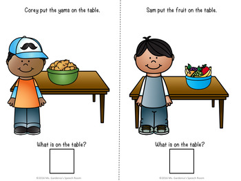 What Questions: Interactive Book Thanksgiving