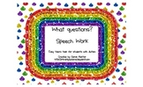 What Questions Speech Practice Task (File Folder)