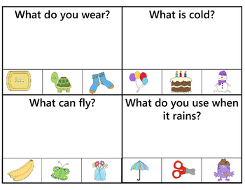 What Questions Task CardsSet 1