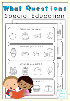 What Questions for Special Education Plus Powerpoint Game