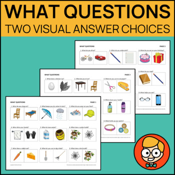 What Questions with Two Visual Answer Choices