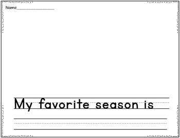 What Season Is Your Favorite? (A Pocket Chart Graphing Activity)