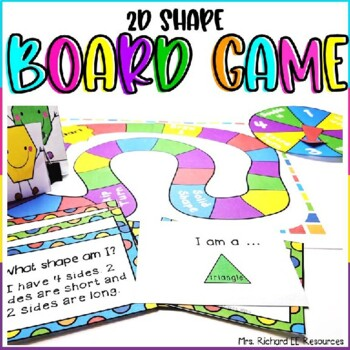 2D Shape Flashcards and Boardgame