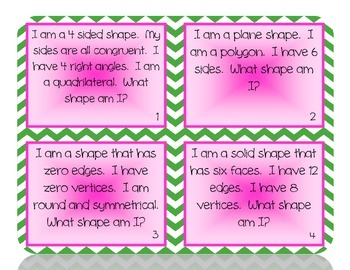 What Shape Am I?  Geometry Riddles