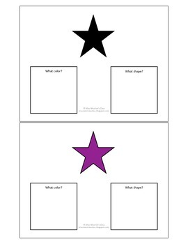 What Shape?  What Color?  - Autism Work Task